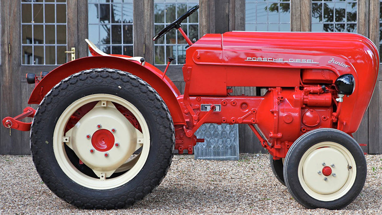 1958 Porsche Diesel Tractor And Steve Mcqueen Jacket Junior 108s Tractor And Porsche Mcqueen Gear