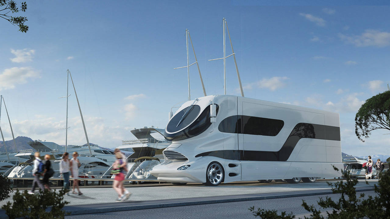 3 million land yacht elemment palazzo superluxury rv for Million dollar motor coaches
