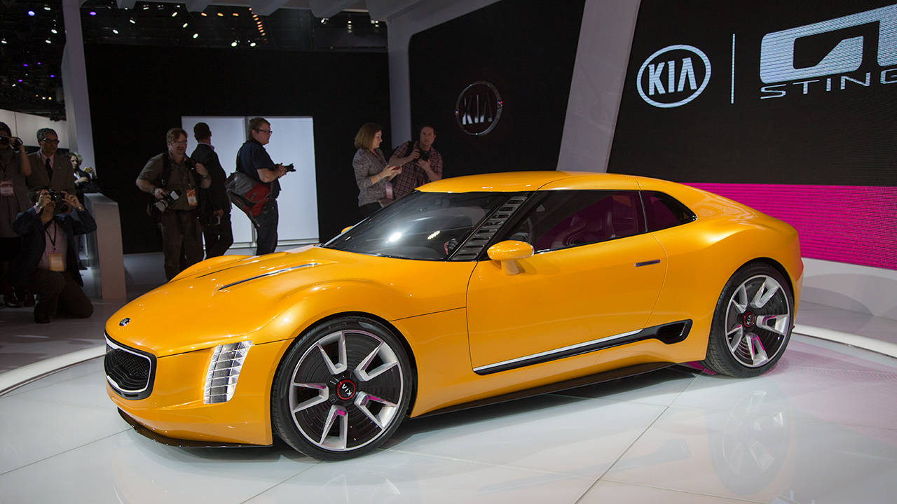 2015 kia gt4 stinger at naias photos. Black Bedroom Furniture Sets. Home Design Ideas