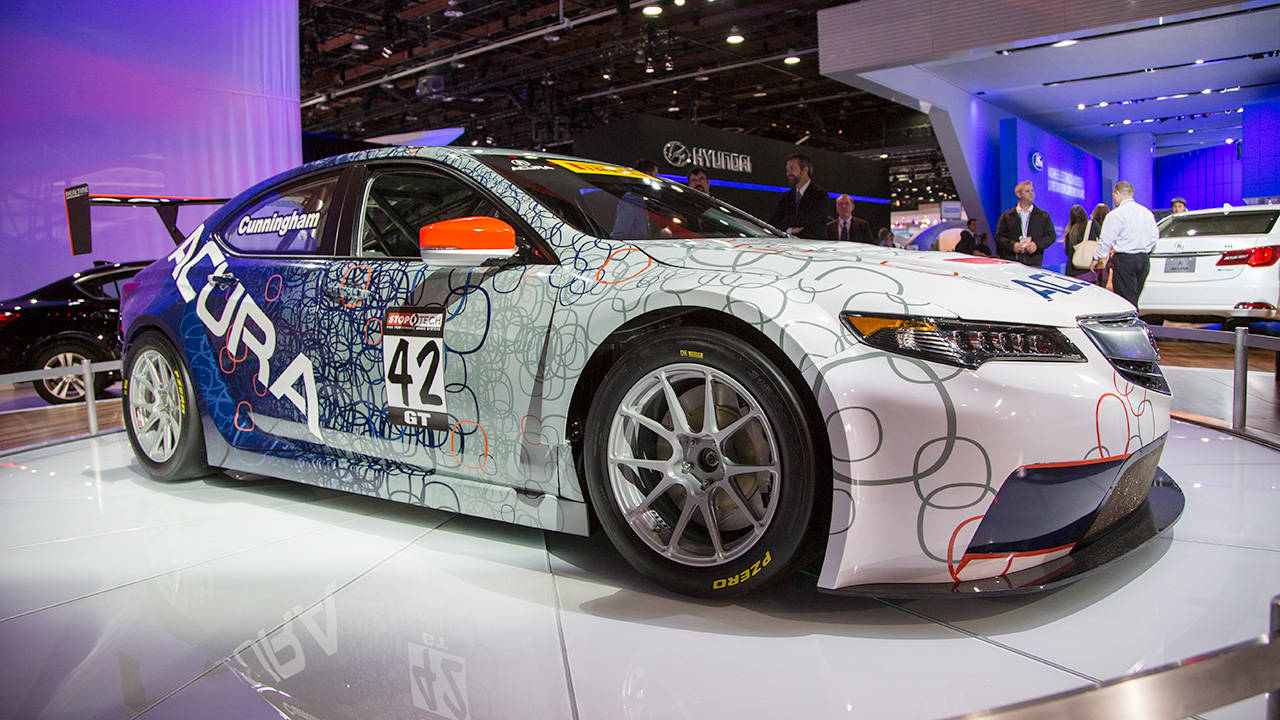 acura tlx gt race car at naias photos. Black Bedroom Furniture Sets. Home Design Ideas