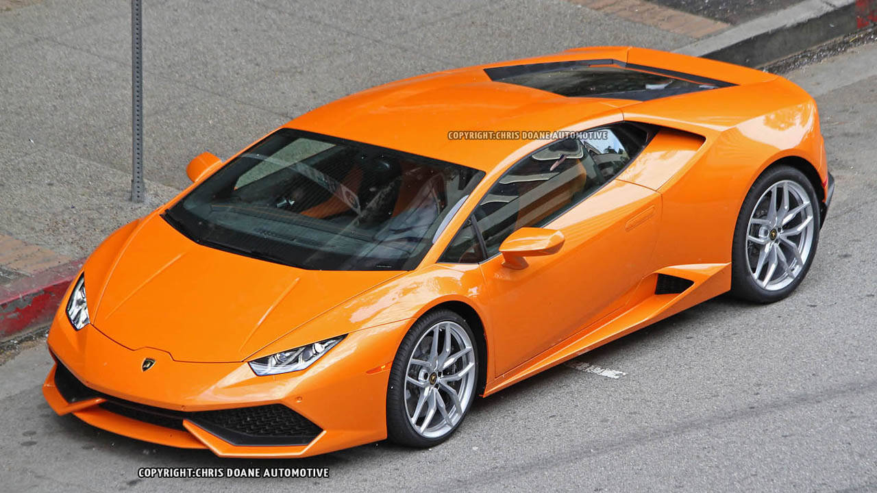 lamborghini huracan hits the street spy photos. Black Bedroom Furniture Sets. Home Design Ideas