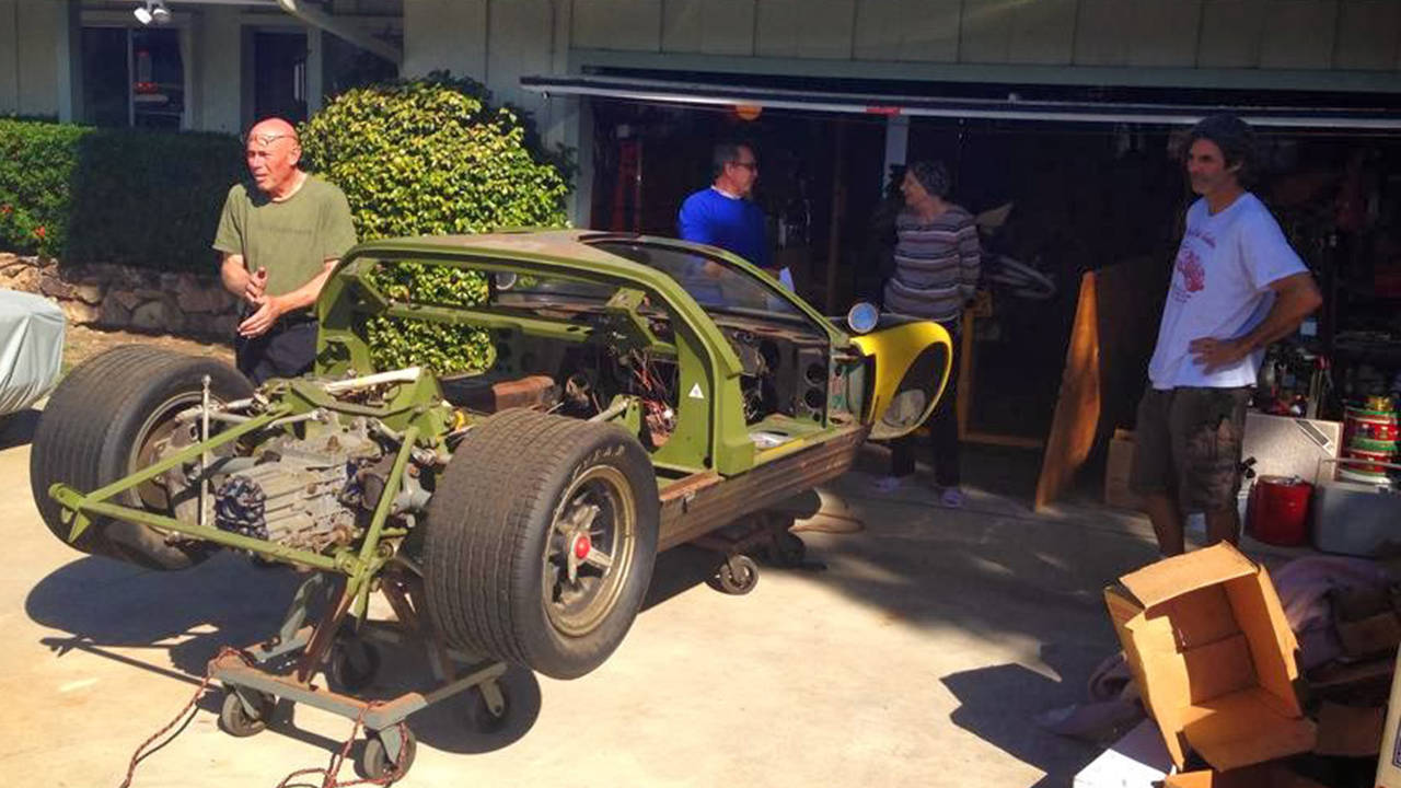 Priceless ford gt40 found buried in junk filled garage for Garage gt auto