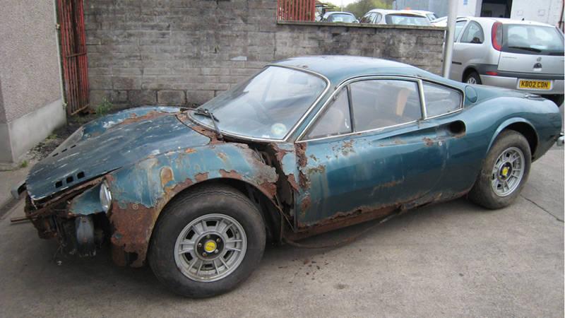 Rust Bucket Ferrari Dino Barn Find Sells For 221 000