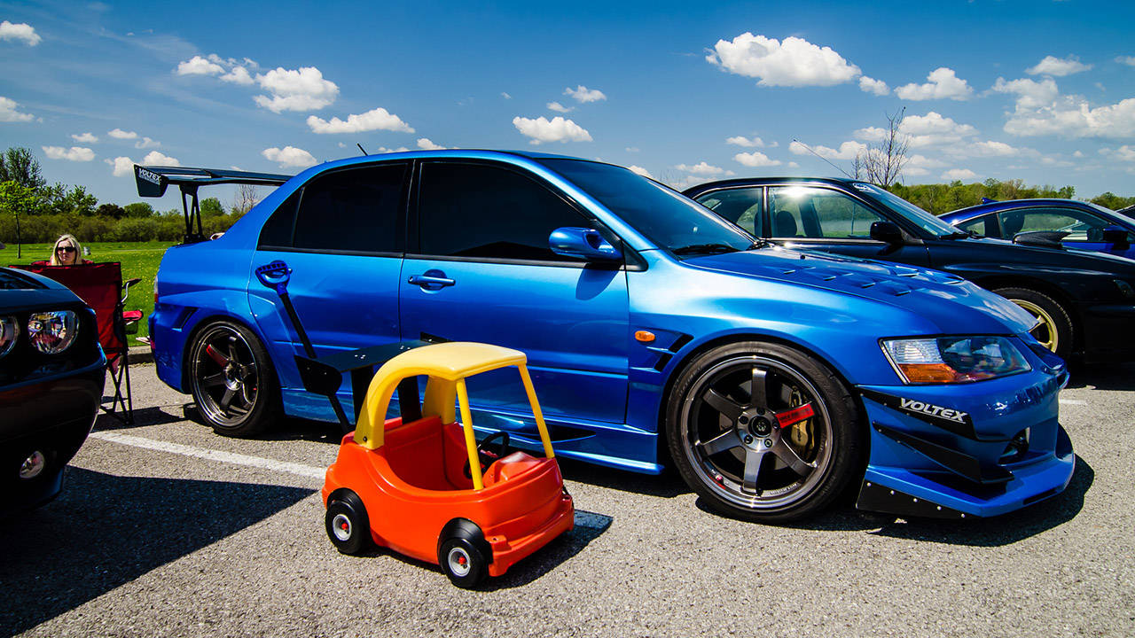 Dad Of The Year Creates A Stanced Cozy Coupe For Daughter