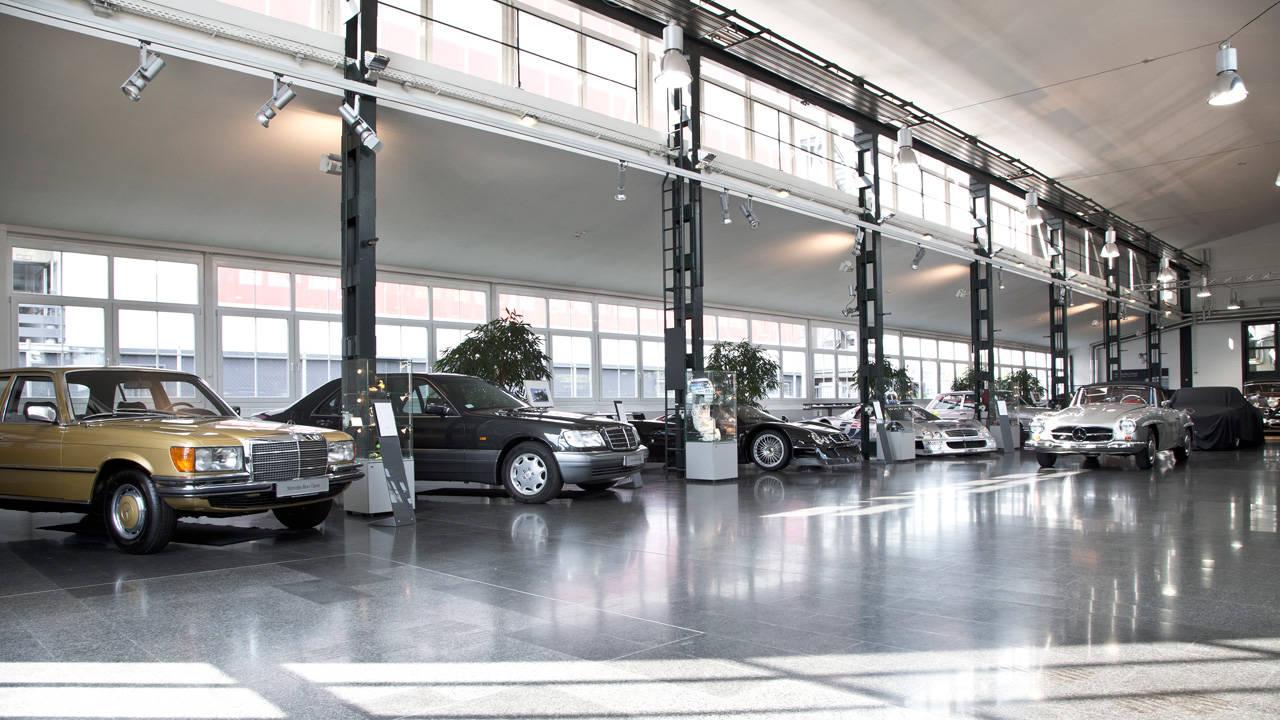 A peek inside mercedes benz 39 s secret garage of misfit toys for Mercedes benz garages