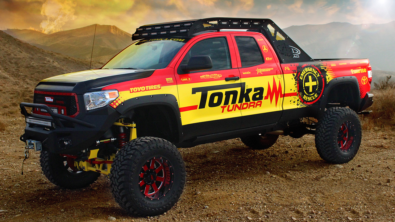 Jacked Up Toyota Trucks >> Toyota Tonka Tundra is a grown-up toy done right