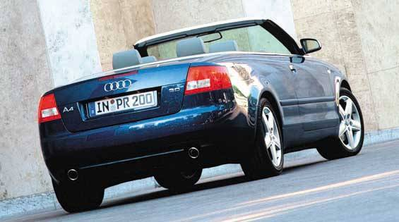 2003 audi a4 cabriolet first drive full review of the new 2003 audi a4 cabriolet. Black Bedroom Furniture Sets. Home Design Ideas