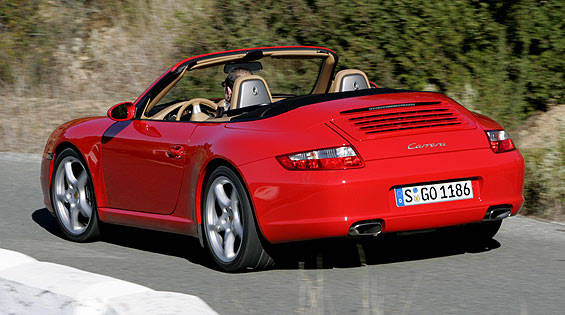 first look at the new 2006 porsche 911 carrera cabriolet. Black Bedroom Furniture Sets. Home Design Ideas