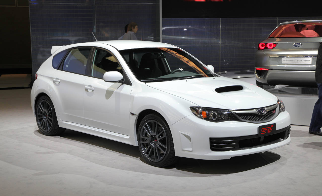 wrx sti 2010 subaru impreza at 2009 la auto show. Black Bedroom Furniture Sets. Home Design Ideas