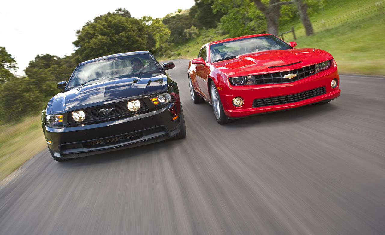 camaro vs mustang I think the mustang is the best looking of the 3 the camaro seems to win on performance and 'fun to drive' factor i respect the challenger for what it is, but personally not a fan of the retro style.