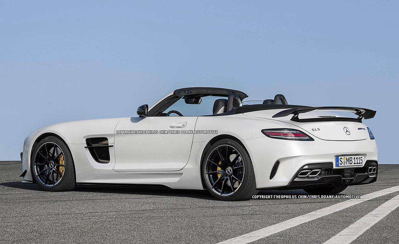 2013 mercedes benz sls amg black series roadster first look. Black Bedroom Furniture Sets. Home Design Ideas