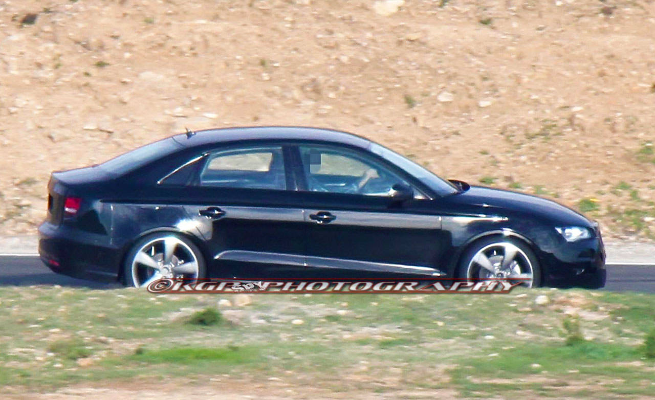 2014 audi a3 sedan caught test new audi a3 sedan. Black Bedroom Furniture Sets. Home Design Ideas