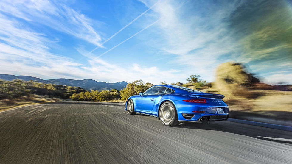 we see how many consecutive launches the porsche 911 turbo s can tolerate - Porsche 911 Turbo 2014 Blue