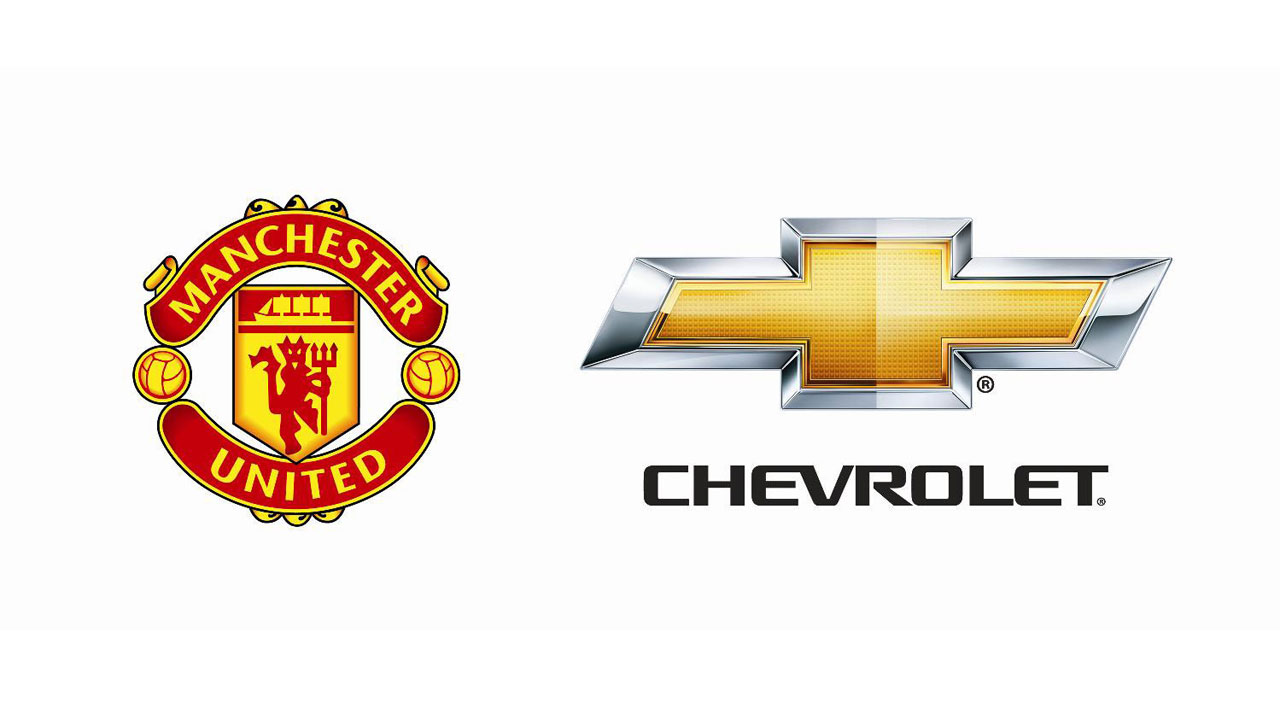 Chevy signs seven year deal with manchester united for Manchester united shirt sponsor