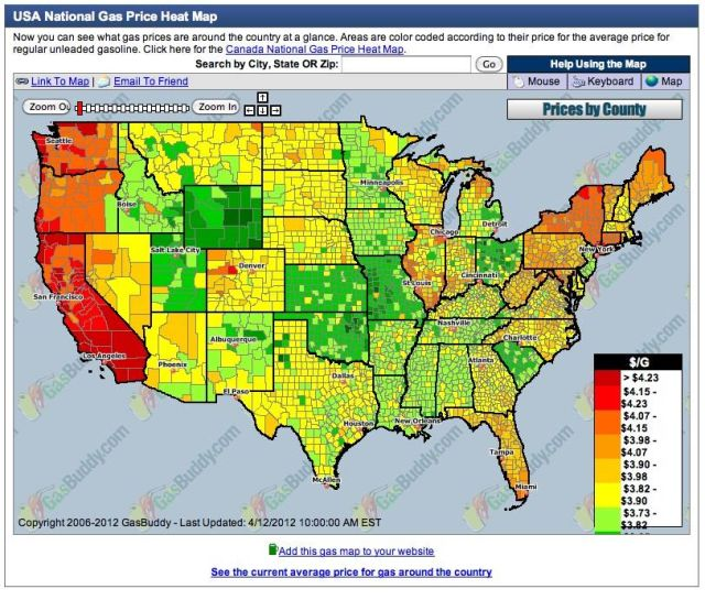 Where can you look up fuel prices by state?