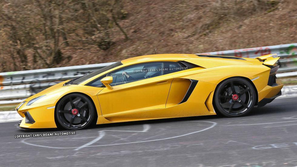 Spy Photos 2015 Lamborghini Aventador SV   Super Lamborghini