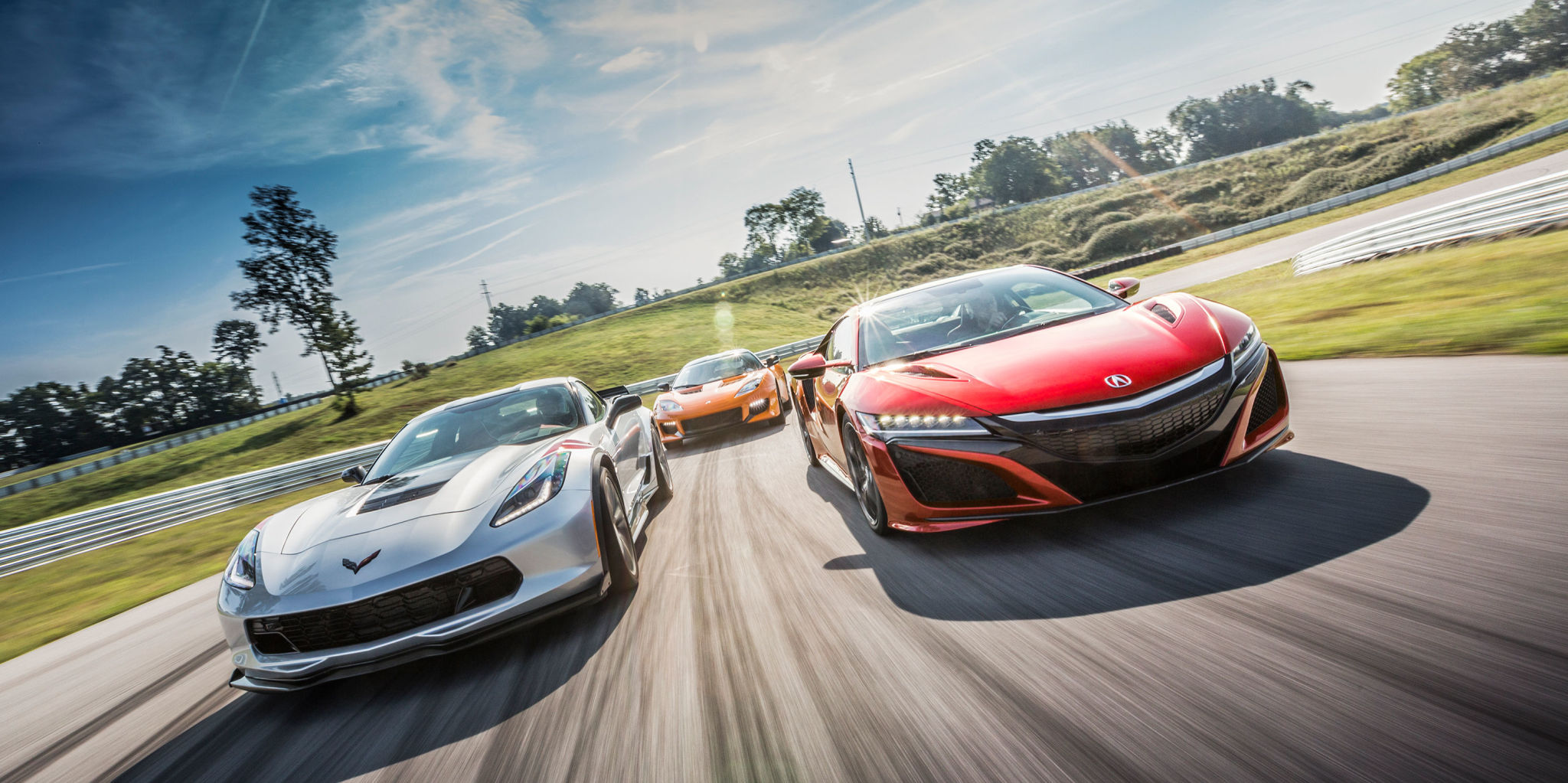 photo of performance car of the year nominees on track
