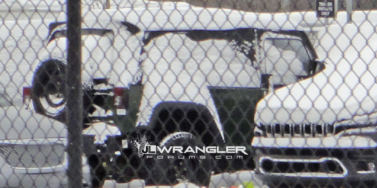 Is This a Spy Shot of the New Jeep Wrangler Pickup, Or Something Entirely Different?